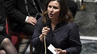 La ministre des Sports Roxana Maracineanu, à l'Assemblée nationale à Paris, le 28 juillet 2020. (STEPHANE DE SAKUTIN / AFP)