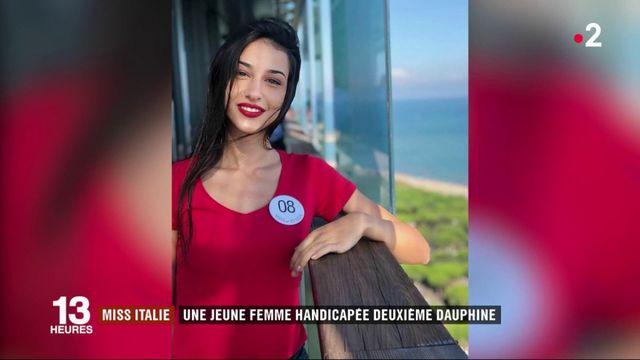 Miss Italie : une jeune femme handicapée est deuxième dauphine