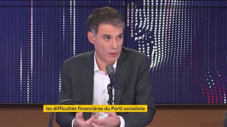 Olivier Faure, premier secrétaire du Parti socialiste, était l'invité de franceinfo jeudi 4 février 2021. (FRANCEINFO / RADIO FRANCE)