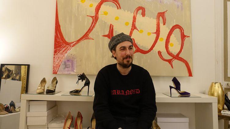 Le créateur Eugène Riconneaus, février 2018 à Paris  (Corinne Jeammet)