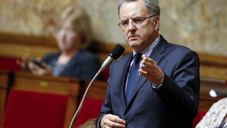 Le président du groupe La République en marche à l'Assemblée nationale, Richard Ferrand, le 28 juin 2017. (GEOFFROY VAN DER HASSELT / AFP)