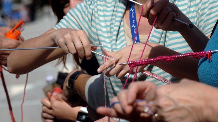 Le championnat de France de vitesse de tricot se déroulait à Lyon en 2007. (JEAN-PHILIPPE KSIAZEK / AFP)