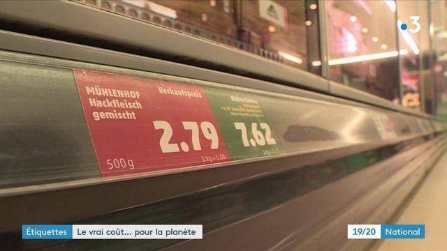 """Allemagne : un supermarché détaille le """"vrai"""" coût de ses produits pour la planète"""