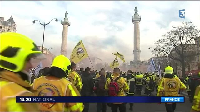 La colère des sapeurs-pompiers