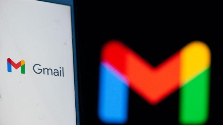 Le logo de l'application Gmail, boîte mail du géant Google, en octobre 2020. (LORENZO DI COLA / NURPHOTO / AFP)