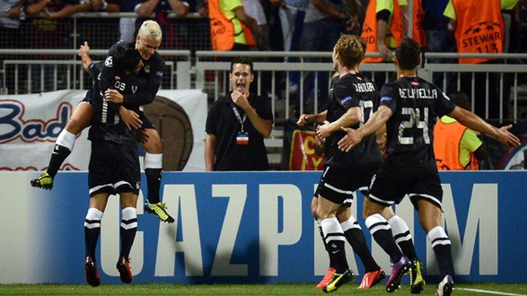 Griezmann a brillé contre Lyon, le club qu'il supportait étant jeune (JEFF PACHOUD / AFP)