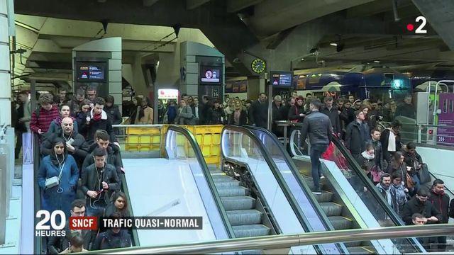 SNCF : retour à un trafic quasi normal ce jeudi