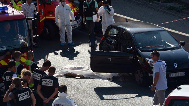 Un homme tué par balles le 5 septembre 2013 à Marseille. Il s'agit d'Adrien Anigo, fils du directeur sportif de l'OM José Anigo (ANNE-CHRISTINE POUJOULAT / AFP)