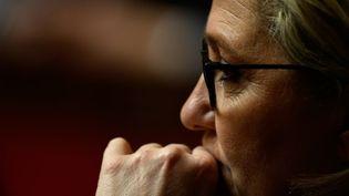 Le parti de Marine Le Pen est confronté à l'abstention de certains de ses électeurs et à la concurrence de Debout la France, le mouvement souverainiste de Nicolas Dupont-Aignan. (PHILIPPE LOPEZ / AFP)