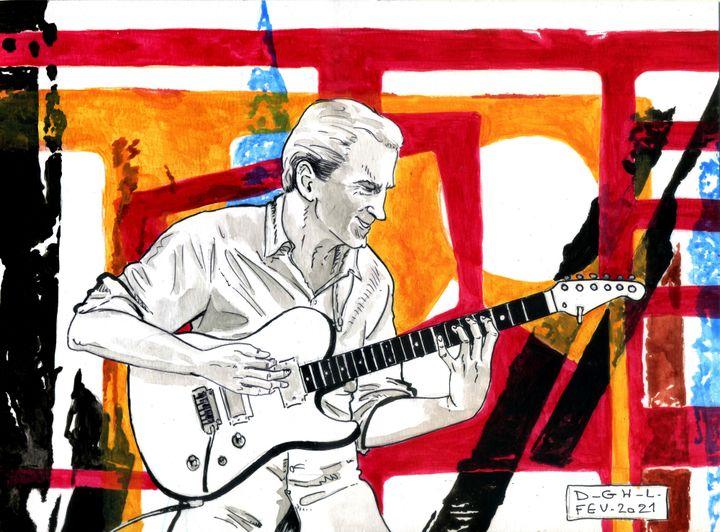 Analogie entre musique et peinture (dessin Denys Legros / visuel Julien Allegre)