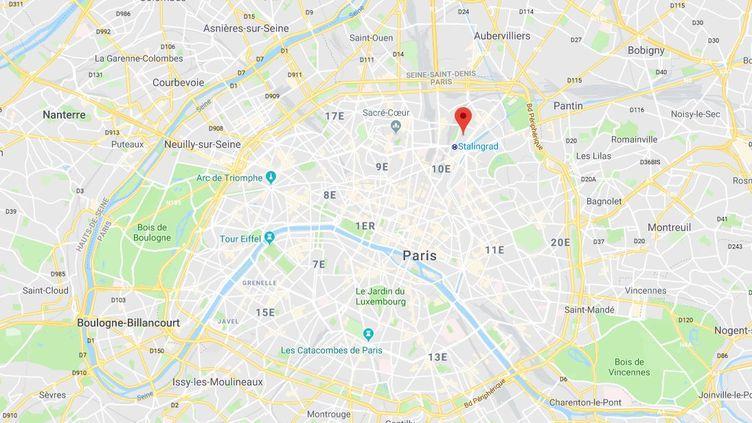 Un couple a été victime d'une agression homophobe, rue du Maroc à Paris, le 6 octobre 2018. (GOOGLE MAPS)