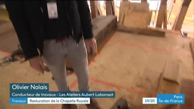 La chapelle royale de Versailles en travaux