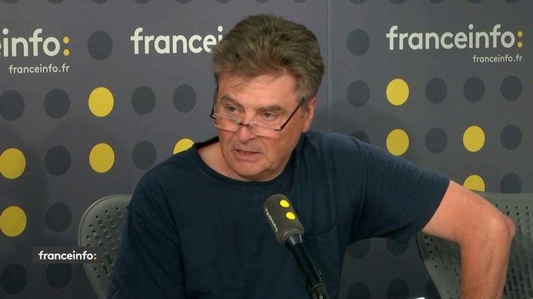 Mathieu Dauvergne, viticulteur dans l'Aude, délégué régional à la Confédération paysanne, était l'invité de franceinfo jeudi 4 juillet. (FRANCEINFO)
