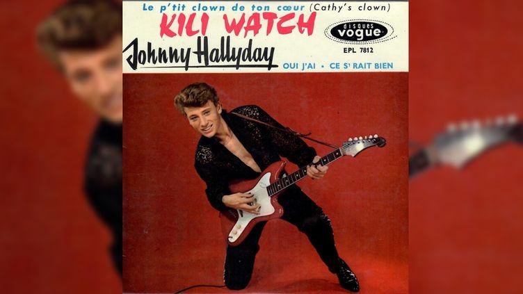 """Le 45 tours de """"Kili watch"""" par Johnny Hallyday. (DR)"""