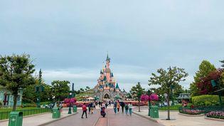 Disneyland Paris, à Marne-la-Vallée (Seine-et-Marne), photographié le 8 septembre 2020. (JEROME LEBLOIS / HANS LUCAS / AFP)