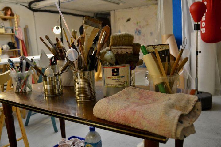 Des ateliers d'art-thérapie sont proposés. (NOEMIE BONNIN / RADIO FRANCE)
