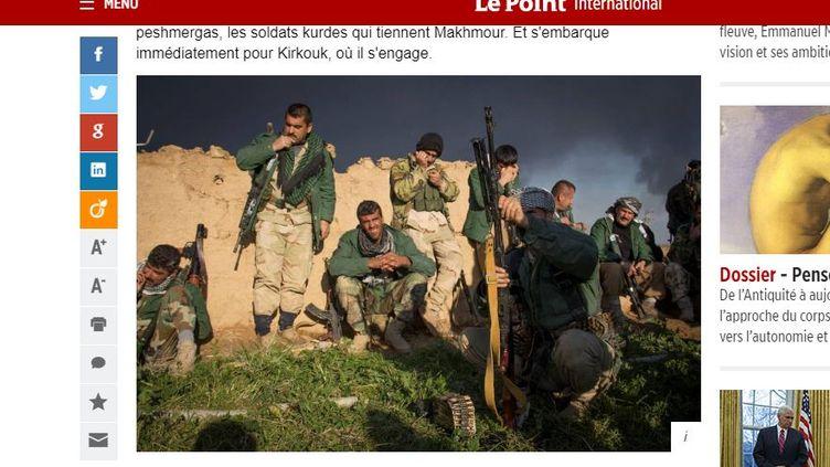 """Une photo volée du faux photographe Eduardo Martins, utilisée dans un article du """"Point"""" du 12 avril 2016. (LE POINT)"""