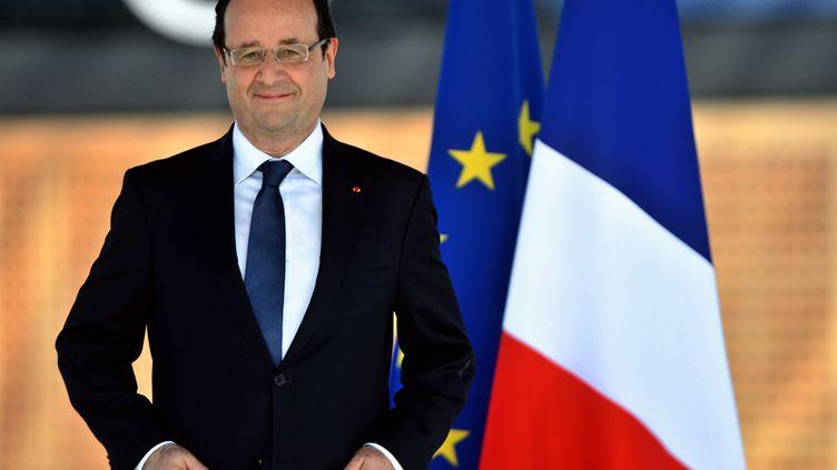 François Hollande inaugure leMusée des civilisations de l'Europe et de la Méditerranée de Marseille (Bouches-du-Rhône), le 4 juin 2013. (GERARD JULIEN / AFP)