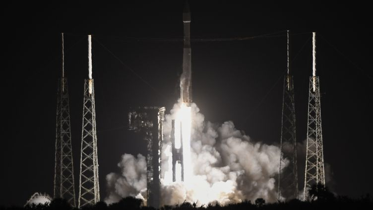 La sonde Solar Orbiter lors de son décollage le 9 février. (JOE MARINO - BILL CANTRELL / MAXPPP)