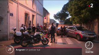 Des policiers à Avignon. (France 2)