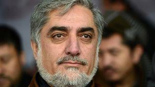 Abdullah Abdullah est arrivé en tête au premier tour de la présidentielle en Afghanistan, selon des résultats préliminaires, samedi 26 avril. (WAKIL KOHSAR / AFP)