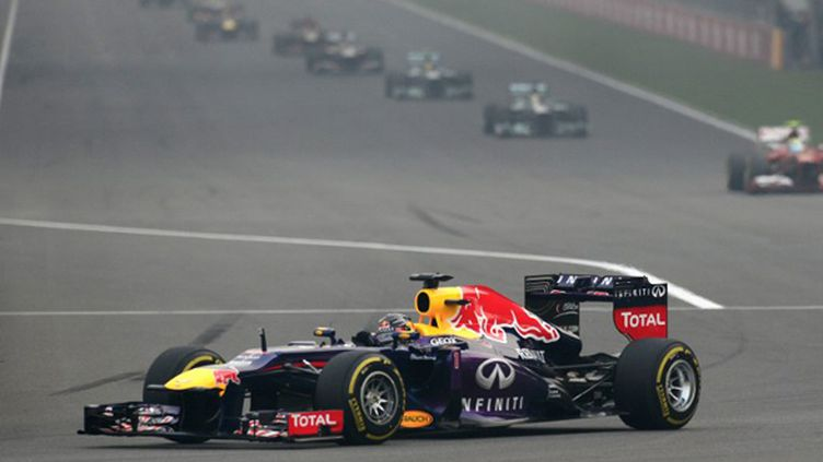 Sebastian Vettel (Red Bull - Renault) quadruple champion du monde (MANAN VATSYAYANA / AFP)