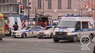 Une bombe a explosé dans le métro de Saint-Pétersbourg. (FRANCE 2)