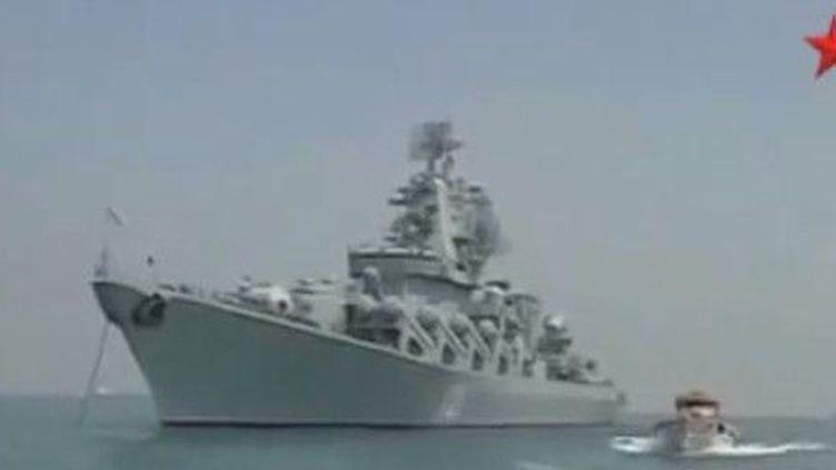Le croiseur russe lance-missiles «Moskwa». (Marine russe)