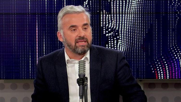 """Alexis Corbière,porte-parole de Jean-Luc Mélenchon était l'invité du """"8h30 franceinfo"""", jeudi 14octobre 2021. (FRANCEINFO / RADIOFRANCE)"""