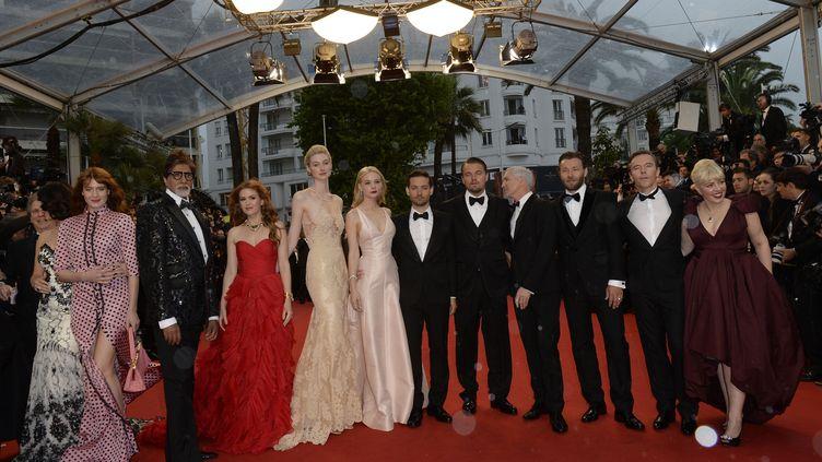 Devant le palais des festivals de Cannes, le 15 mai 2013. (ANNE-CHRISTINE POUJOULAT / AFP)