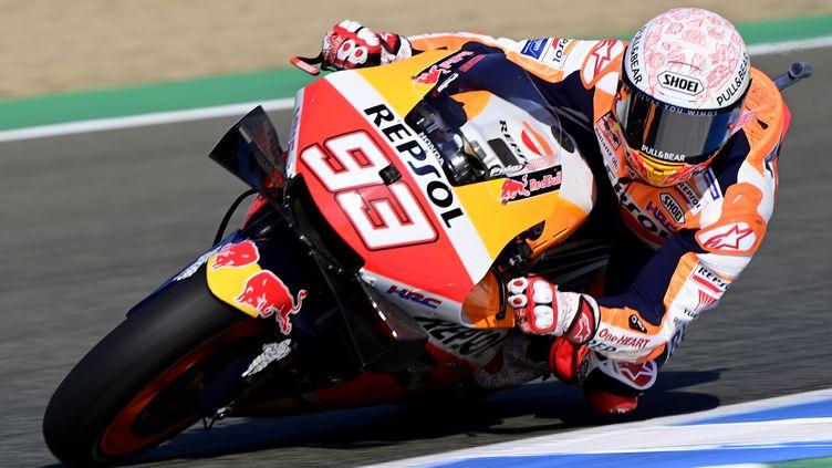 Marc Marquez (Honda) sur le circuit de Jerez le week-end dernier (JAVIER SORIANO / AFP)