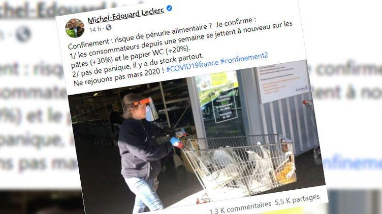 Capture écran du compte Facebook de Michel-Edouard Leclerc. (CAPTURE ECRAN FACEBOOK)
