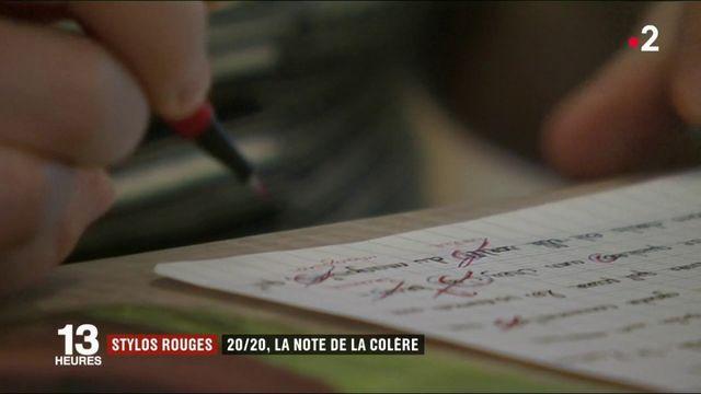 """""""Stylets rouges"""" : des enseignants ont décidé de noter toutes les copies 20/20"""