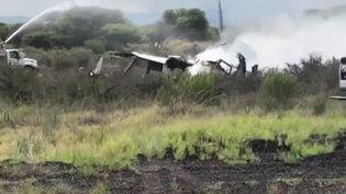Un avion s'est écrasé mardi 31 juillet dans le nord du Mexique, sans faire de morts. (FRANCE 3)