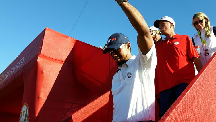 Tiger Woods vice-capitaine victorieux de la Ryder Cup à Chaska (Fabrice Rigobert / Radio France)