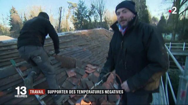 Vague de froid : les travailleurs en extérieur prennent leurs précautions