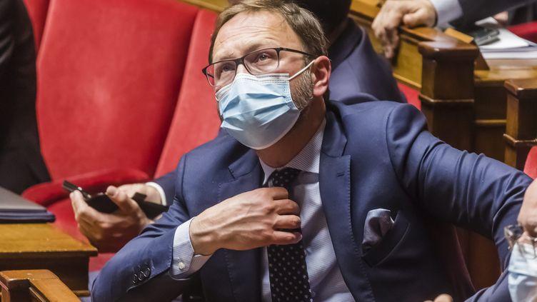 Patrick Mignola, chef de file des députés MoDem, en mars 2021 à l'Assemblée nationale. (VINCENT ISORE / MAXPPP)