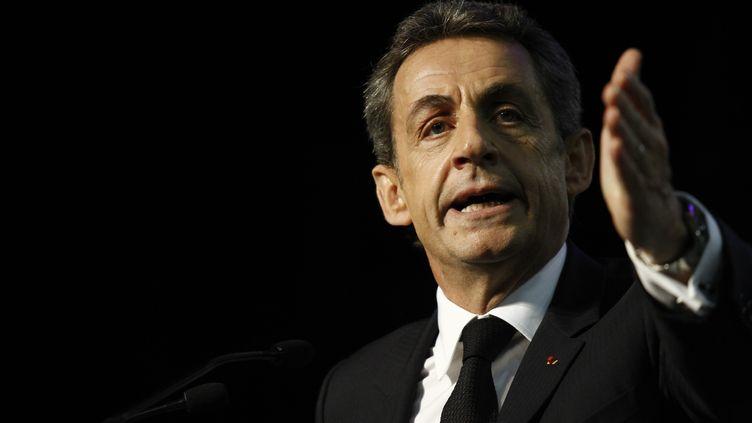 Nicolas Sarkozy a tenté de se défendre devant les Français jeudi 22 mars dans le journal de 20 heures de TF1 dans l'affaire du financement présumé libyen de sa campagne présidentielle en 2007. (FRAN?OIS LOOCK / CROWDSPARK/AFP)