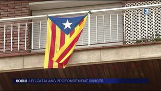 Les Catalans sont divisés que la question de l'indépendance. (FRANCE 3)