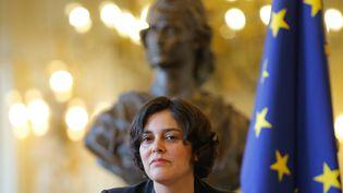 La ministre du Travail, Myriam El Khomri, lors d'une cérémonie à la préfecture d'Alsace Champagne-Ardenne Lorraine, à Strasbourg, le 18 mars 2016. (VINCENT KESSLER / REUTERS)