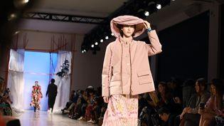 Défilé de la maison chinoise Mukzin automne-hiver 2020-21 à la semaine de la mode de New York, le 6 février 2020, aux États-Unis (JASON MENDEZ / GETTY IMAGES NORTH AMERICA)
