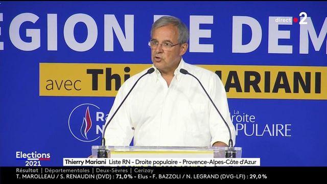 """Elections régionales et départementales : Thierry Mariani se dit """"triste"""" après sa défaite en Paca, dénonçant """"tout un système coalisé"""""""