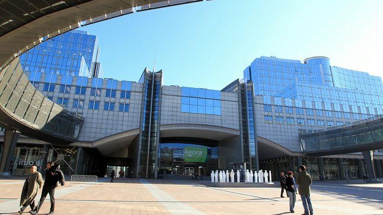Les locaux du Parlement européen à Bruxelles, le 7 février 2011. (JULIEN WARNAND / BELGA MAG / AFP)