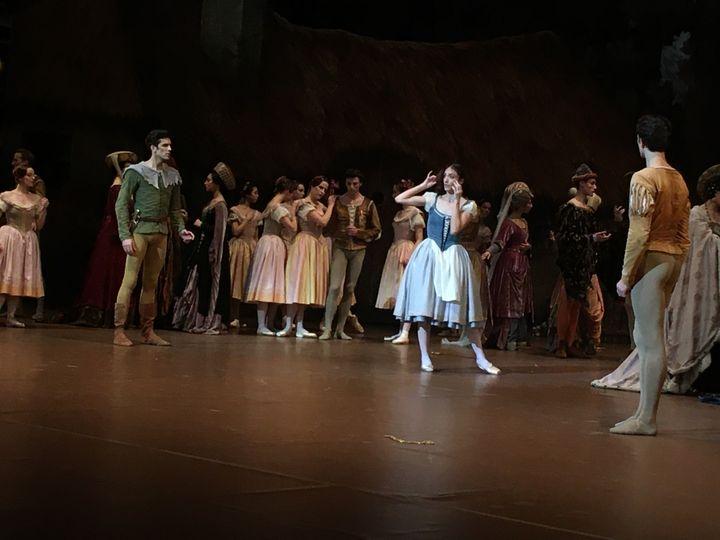Dorothée Gilbert dans le rôle de Giselle à l'Opéra de Paris le 30 janvier 2020. (VALERIE GAGET)