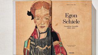 """""""Egon Schiele : tout l'Oeuvre peint"""" : page d'accueil Taschen  (Taschen)"""