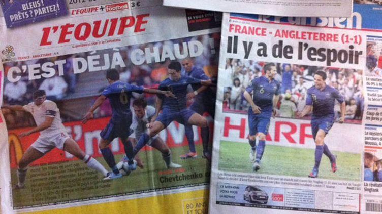 La Une de l'Equipe et du Parisien du mardi 12 juin 2012