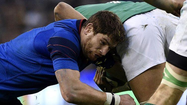 Pascal Papé (XV de France) lors du match en Irlande (FRANCK FIFE / AFP)