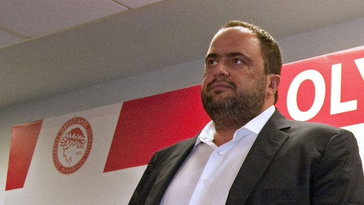 Evangelos Marinakis, le patron d'Olympiakos (ANDRES MOURENZA / MAXPPP)
