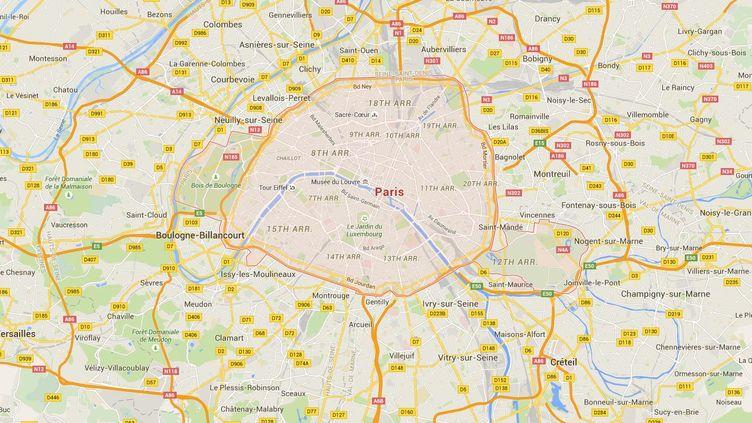 Capture d'écran de Google Maps pointant Paris où un policier est poursuivi pour corruption. (GOOGLEMAPS)