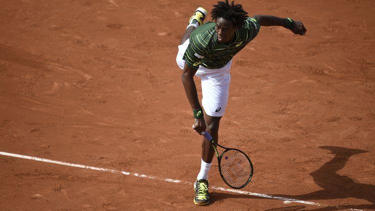 Le Français Gael Monfils à Roland Garros le 25 mai 2015. (MIGUEL MEDINA / AFP)